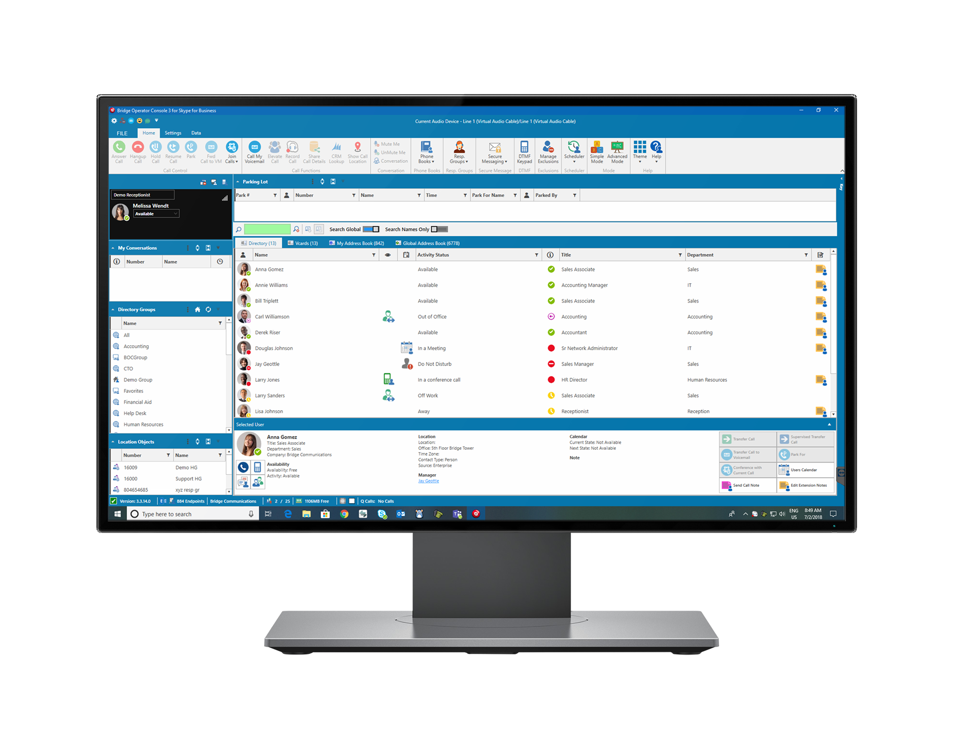 Bridge Operator Console Attendant Console Skype for Business and Lync