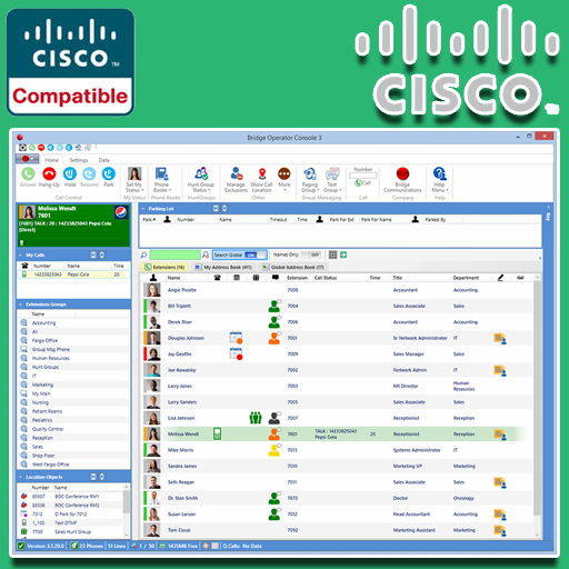 Bridge Operator Console - Replace Cisco Attendant Console for Cisco CUCM