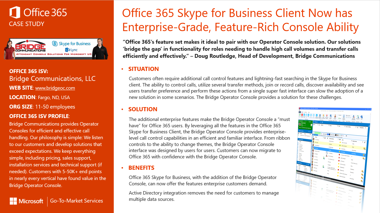Microsoft Skype for Business Go To Market Services